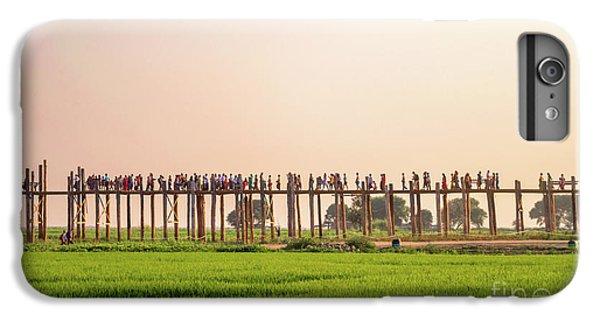 Burmese Python iPhone 6 Plus Case - U Bein Bridge by Delphimages Photo Creations