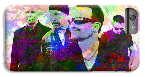 U2 iPhone 6 Plus Case - U2 Band Portrait Paint Splatters Pop Art by Design Turnpike