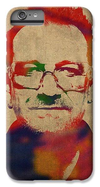 U2 Bono Watercolor Portrait IPhone 6 Plus Case