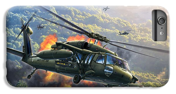 Helicopter iPhone 6 Plus Case - Uh-60 Blackhawk by Stu Shepherd