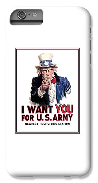 Landmarks iPhone 6 Plus Case - Uncle Sam -- I Want You by War Is Hell Store