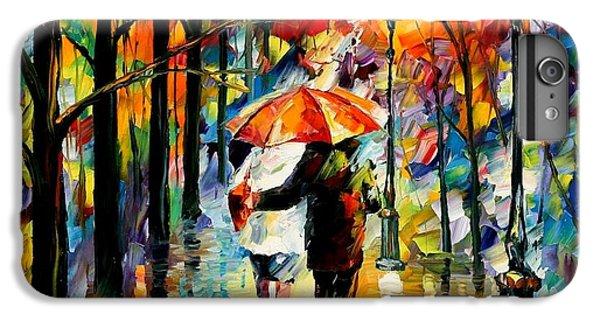 Afremov iPhone 6 Plus Case - Under The Red Umbrella by Leonid Afremov