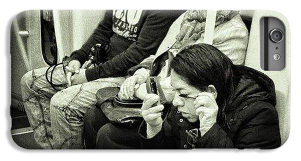 London iPhone 6 Plus Case - Underground Rimmel #blackandwhite by Rafa Rivas