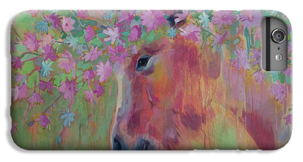 Unicorn iPhone 6 Plus Case - Uni Corn Flower II by Kimberly Santini
