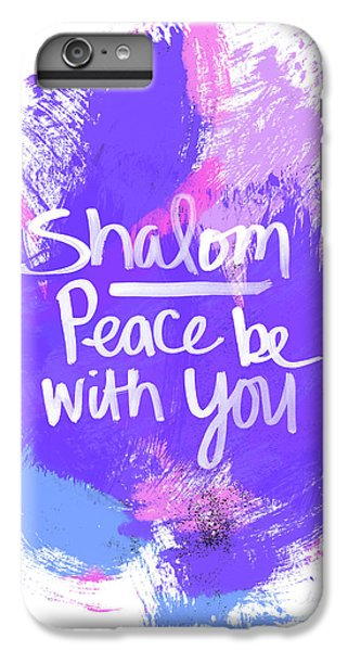 Unicorn iPhone 6 Plus Case - Unicorn Colors Shalom- Art By Linda Woods by Linda Woods