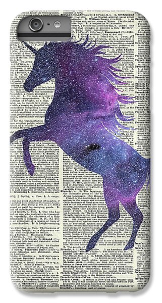 Unicorn In Space IPhone 6 Plus Case by Jacob Kuch