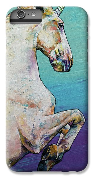 Unicorn iPhone 6 Plus Case - Unicorn by Michael Creese
