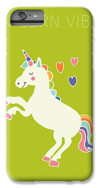 Unicorn Vibes IPhone 6 Plus Case by Nicole Wilson