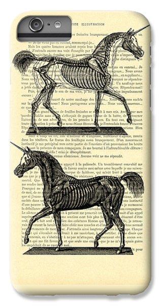 Unicorns Anatomy IPhone 6 Plus Case by Madame Memento