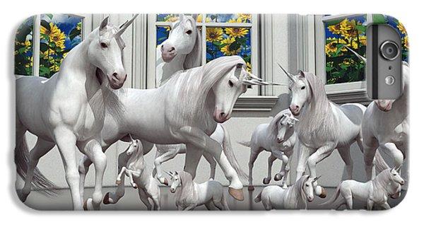 Unicorns IPhone 6 Plus Case by Betsy Knapp