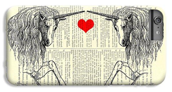 Unicorns Love IPhone 6 Plus Case by Madame Memento