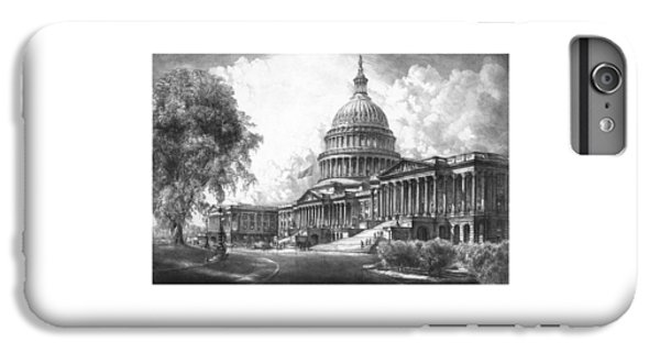 Capitol Building iPhone 6 Plus Case - United States Capitol Building by War Is Hell Store