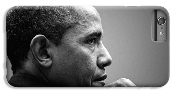 Barack Obama iPhone 6 Plus Case - United States President Barack Obama Bw by Celestial Images
