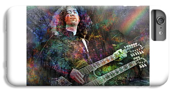 Rock Music Jimmy Page iPhone 6 Plus Case - Upon Us All A Little Rain Must Fall by Mal Bray