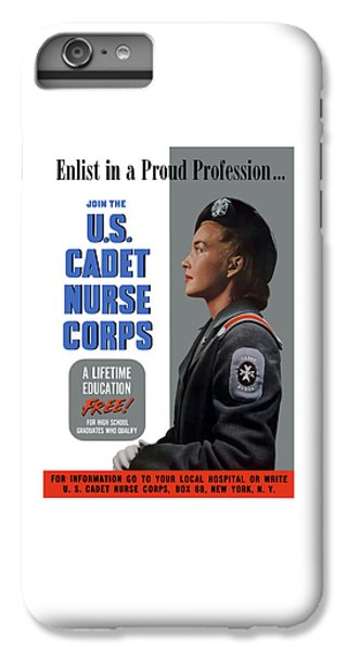 Nurse Shark iPhone 6 Plus Case - Us Cadet Nurse Corps - Ww2 by War Is Hell Store
