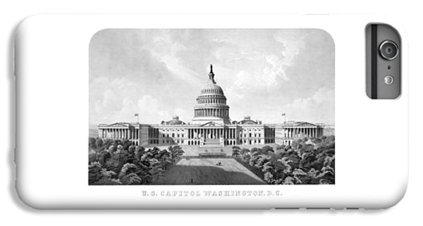 Capitol Building iPhone 6 Plus Case - Us Capitol Building - Washington Dc by War Is Hell Store
