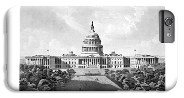 Us Capitol Building - Washington Dc IPhone 6 Plus Case by War Is Hell Store
