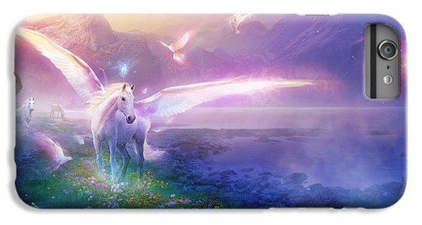 Pegasus iPhone 6 Plus Case - Utherworlds Winter Dawn by Philip Straub