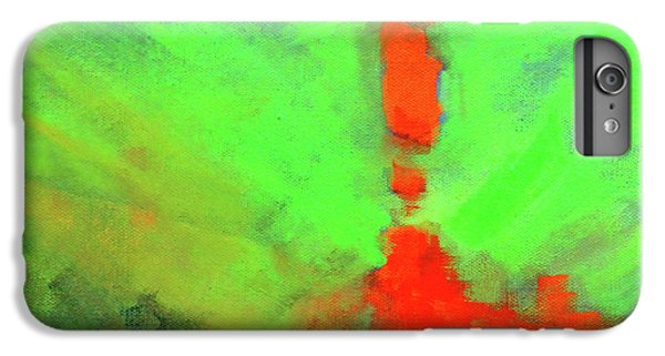 IPhone 6 Plus Case featuring the painting Valley View by Nancy Merkle