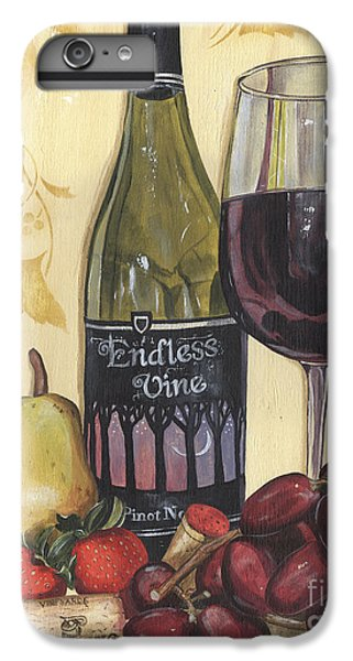 Strawberry iPhone 6 Plus Case - Veneto Pinot Noir by Debbie DeWitt