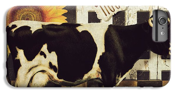 Cow iPhone 6 Plus Case - Vermont Farms Cow by Mindy Sommers