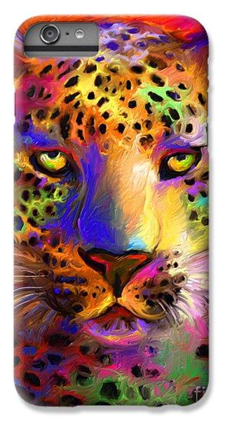 Vibrant Leopard Painting IPhone 6 Plus Case