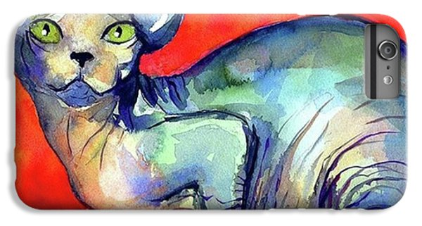 Vibrant Watercolor Sphynx Painting By IPhone 6 Plus Case