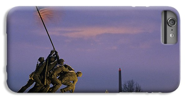 Lincoln Memorial iPhone 6 Plus Case - View Of The Iwo Jima Monument by Kenneth Garrett