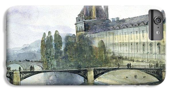 View Of The Pavillon De Flore Of The Louvre IPhone 6 Plus Case by Francois-Marius Granet
