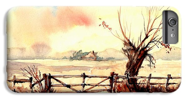Sparrow iPhone 6 Plus Case - Village Scene IIi by Suzann's Art