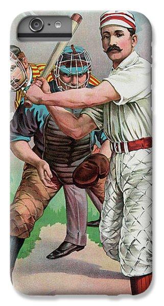 Softball iPhone 6 Plus Case - Vintage Baseball Card by American School