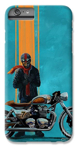 Motorcycle iPhone 6 Plus Case - Vintage Cafe Racer  by Sassan Filsoof