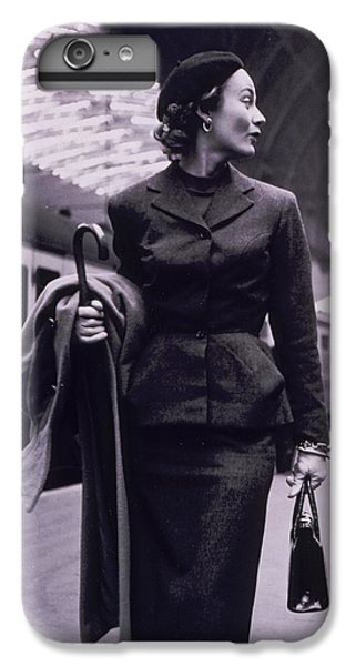 Train iPhone 6 Plus Case - Vintage Fashion Elegant Lady by Mindy Sommers