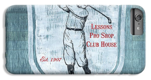 Vintage Golf Blue 1 IPhone 6 Plus Case by Debbie DeWitt