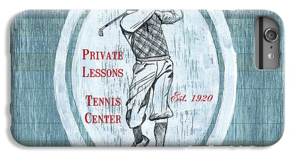 Vintage Golf Blue 2 IPhone 6 Plus Case by Debbie DeWitt