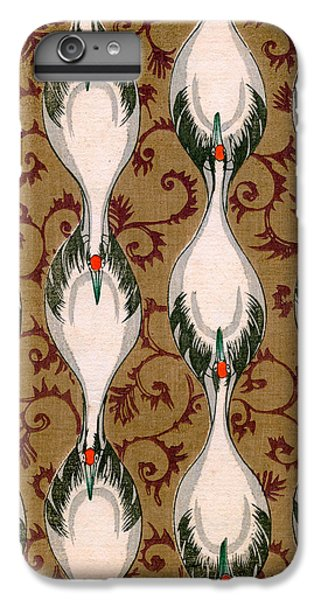 Vintage Japanese Illustration Of Cranes Flying IPhone 6 Plus Case by Japanese School