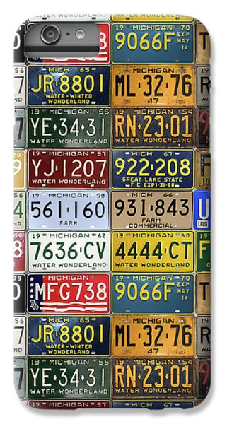 Vintage License Plates From Michigan's Rich Automotive Past IPhone 6 Plus Case by Design Turnpike