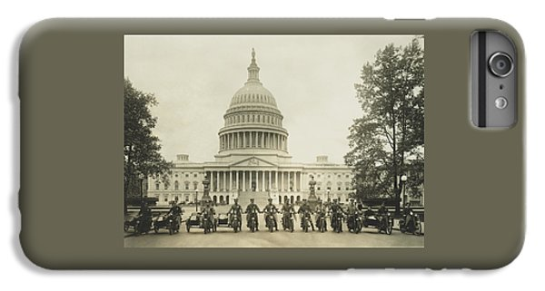 Vintage Motorcycle Police - Washington Dc  IPhone 6 Plus Case by War Is Hell Store