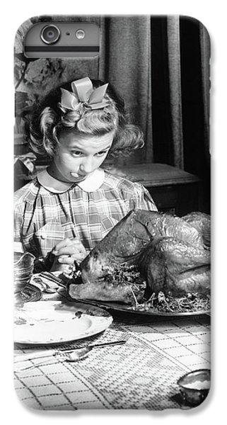 Vintage Photo Depicting Thanksgiving Dinner IPhone 6 Plus Case by American School