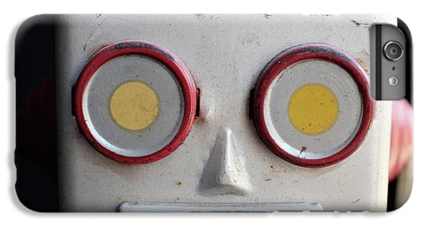 Classic iPhone 6 Plus Case - Vintage Robot Square by Edward Fielding