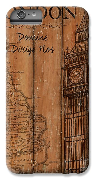 Vintage Travel London IPhone 6 Plus Case by Debbie DeWitt