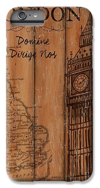 Vintage Travel London IPhone 6 Plus Case by Debbie DeWitt