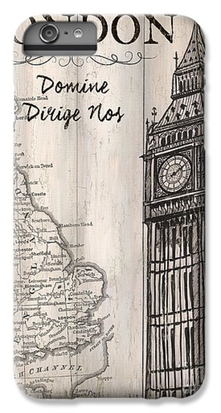 Vintage Travel Poster London IPhone 6 Plus Case by Debbie DeWitt