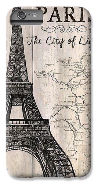 Brown Snake iPhone 6 Plus Case - Vintage Travel Poster Paris by Debbie DeWitt