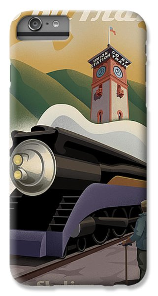 Vintage Union Station Train Poster IPhone 6 Plus Case by Mitch Frey