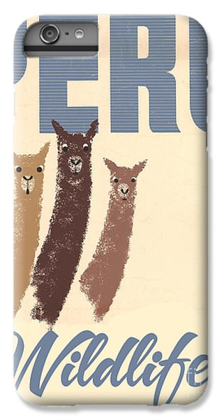 Llama iPhone 6 Plus Case - Vintage Wild Life Travel Llamas by Mindy Sommers