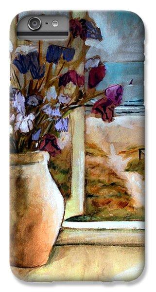 Violet Beach Flowers IPhone 6 Plus Case