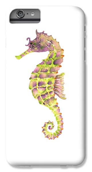 Violet Green Seahorse - Square IPhone 6 Plus Case