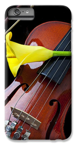 Violin With Yellow Calla Lily IPhone 6 Plus Case