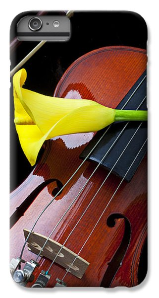 Music iPhone 6 Plus Case - Violin With Yellow Calla Lily by Garry Gay